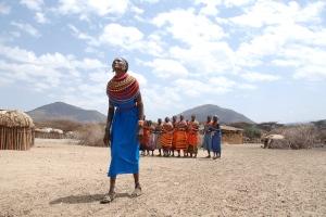welcome dancing of Masai women