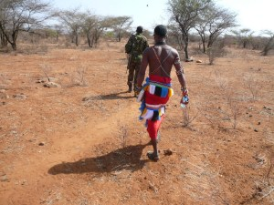 Bush walk with armed ranger and local Masai