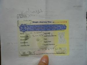 Kenya Visa, my alibi not in Taiwan